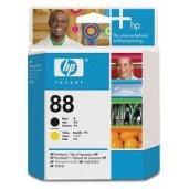 HP 88 Cabezal de impresión negro, amarillo